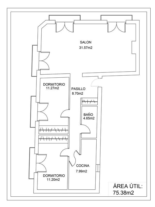 Piso en venta | Calle de Embajadores | Plano | LCeL