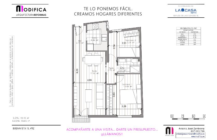 Piso en alquiler en la calle de Buenavista | Lavapiés-Embajadores | Madrid | LCeL | Plano