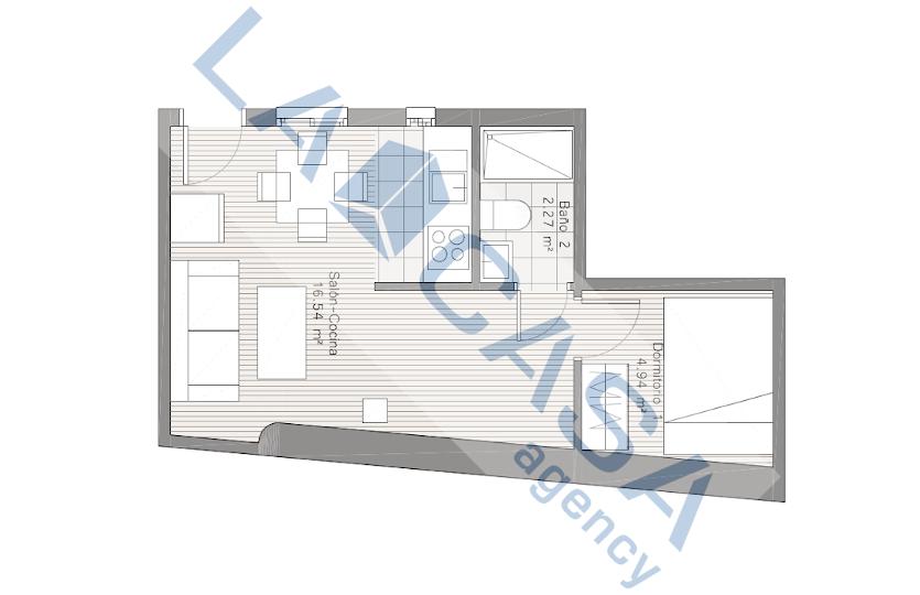 Apartamento en alquiler en la calle Ave María | Lavapiés - Embajadores | LCeL | Plano