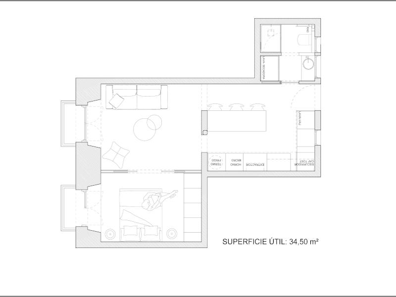Alquiler de piso en Mesón de Paredes | Lavapiés - Embajadores | LCeL | Plano